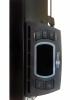 Комбинированный (инфракрасный + конвекционный) стеклянный ИК обогреватель Теплофон ЭРГ/ЭВНАП 1,0 Binar. Вид на выключенный микропроцессорный терморегулятор.